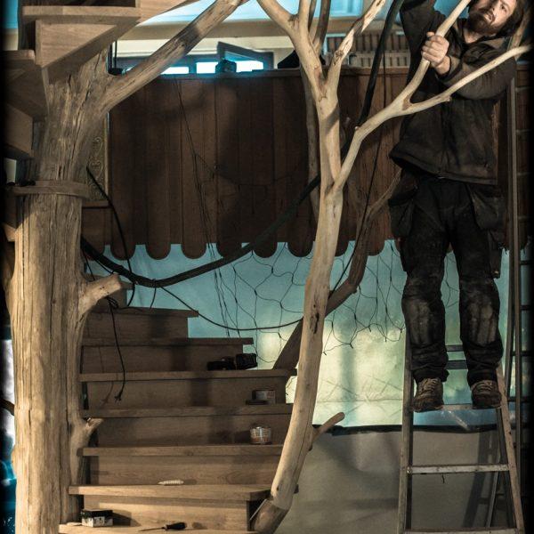Projets d'exception. arbre escalier sur mesure_ag menuiserie